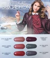 Палитра гелей-лаков из коллекции «Sweetheart Squadron»