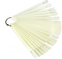 Палитра-веер на кольце, 50 типс, цвет - молочный