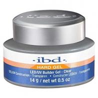 LED/UV Гель IBD Builder Gel Clear 14g, прозрачный моделирующий гель