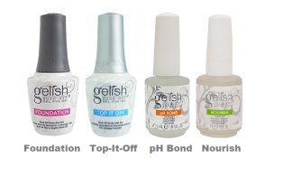 Набор препаратов GELISH (Foundation, Top-it-Off, pH Bond, Cuticle Oil)