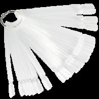Палитра-веер на кольце, 50 типс, прозрачная
